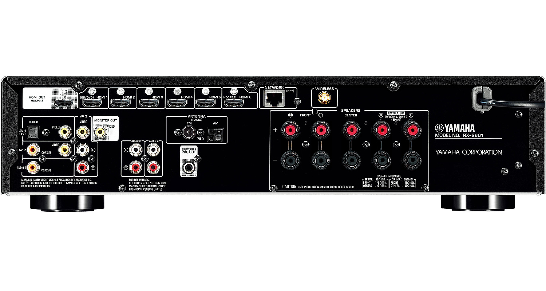 Yamaha Black 5 1 Channel Network Av Receiver Rx S601