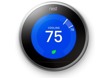 Nest Learning Smart Thermostat 3rd Generation, Stainless Steel - T3007ES