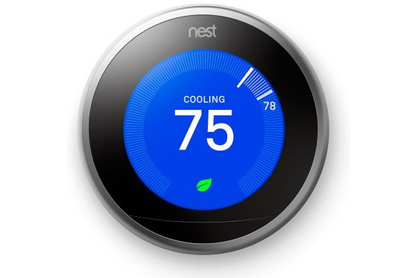 Large image of Google Nest Learning Smart Thermostat 3rd Generation, Stainless Steel - T3007ES