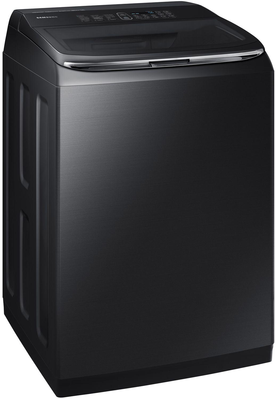 Samsung Black Stainless Top Load Washer Wa52m8650av