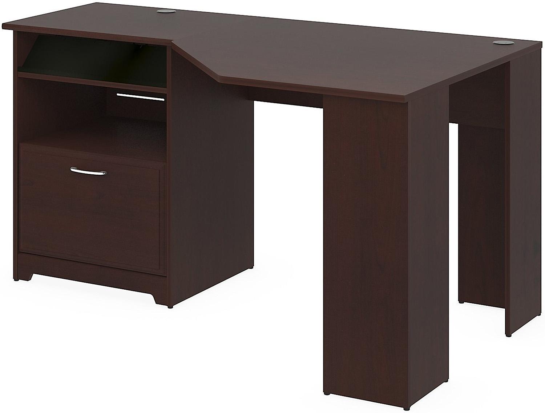Bush Furniture Cabot Cherry Corner Desk WC - Bush cabot corner computer desk