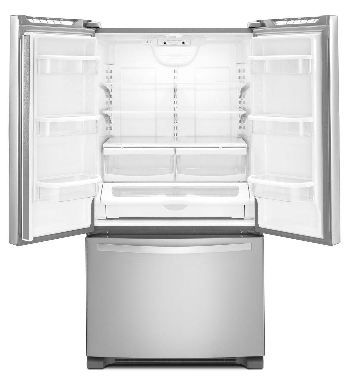 Whirlpool white ice counter depth french door - Whirlpool Wrf532smbw French Door Refrigerators Main Image Interior