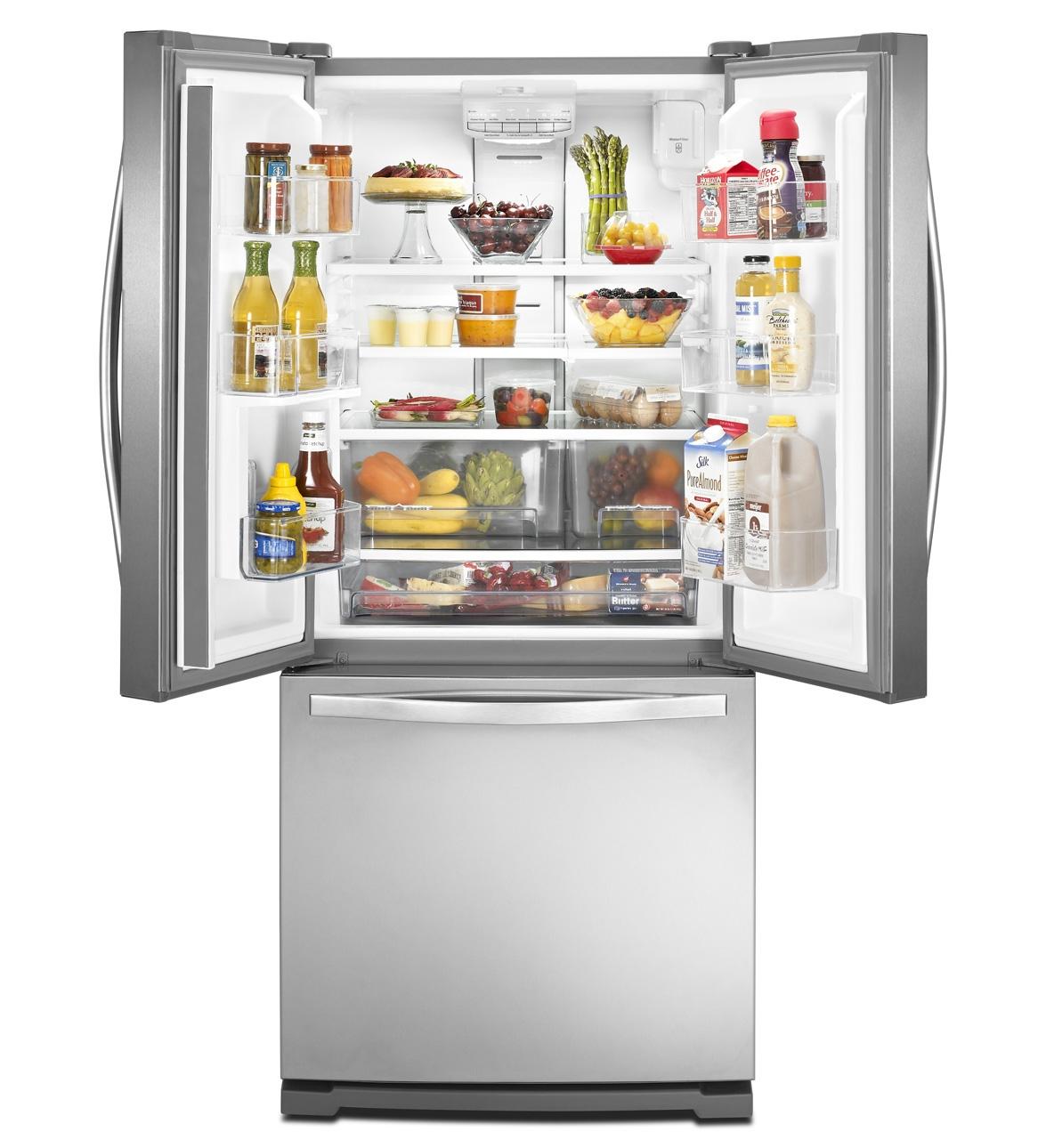 Whirlpool white ice refrigerator counter depth - Main Image Interior