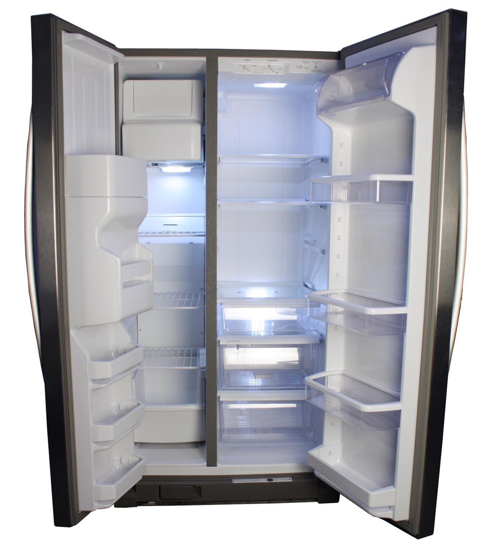 Whirlpool 25 4 Cu Ft Stainless Refrigerator Wrs325fdam