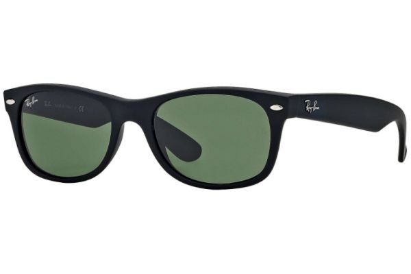 Large image of Ray-Ban New Wayfarer Classic Black Unisex Sunglasses - RB2132 622 52-18