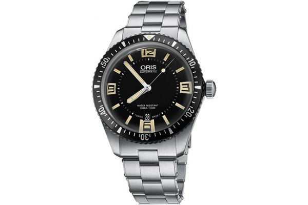 Large image of Oris Divers Sixty-Five Black Mens Watch - 01733770740640782018