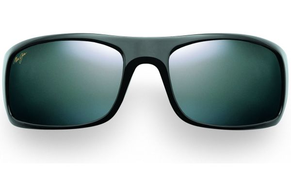 Large image of Maui Jim Peahi Black Rectangle Mens Sunglasses - 202-02
