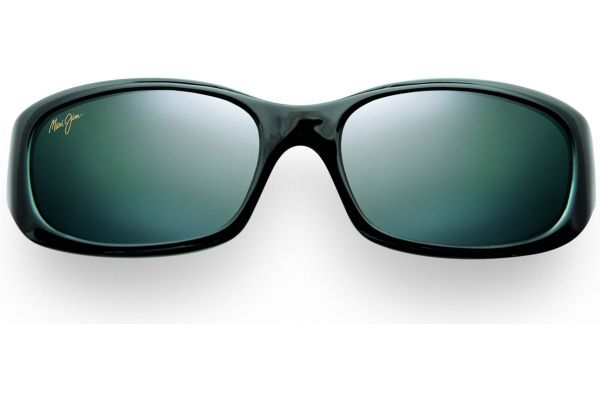 Large image of Maui Jim Punchbowl Black Rectangle Womens Sunglasses - 21903GRY