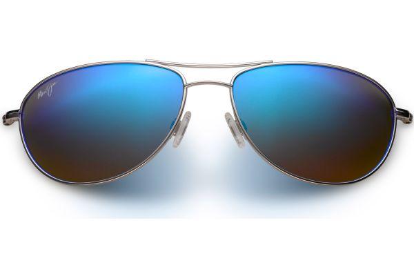 Large image of Maui Jim Baby Beach Silver Men Sunglasses - B245-177