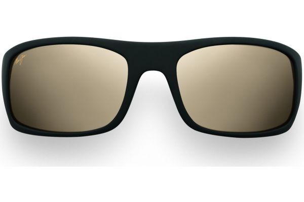 Maui Jim Peahi Matte Black Wrap Frame Mens Sunglasses - H2022M