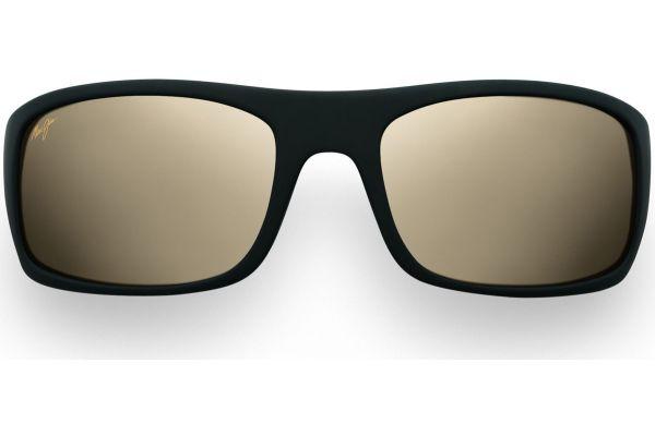 Large image of Maui Jim Peahi Matte Black Wrap Frame Mens Sunglasses - H2022M