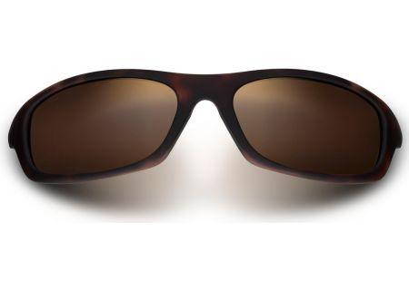 Maui Jim Kipahulu Matte Tortoise Rubber Wrap Womens Sunglasses - H279-10MR