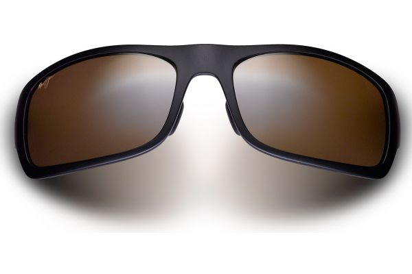 Large image of Maui Jim Haleakala Matte Black Rectangle Sunglasses - H419-2M