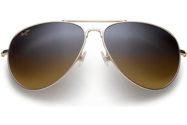 Large image of Maui Jim Mavericks Gold Aviator Unisex Sunglasses - HS264-16