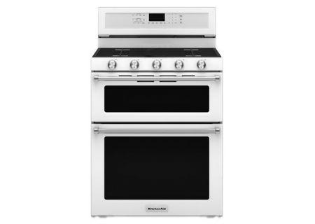 Kitchenaid 30 Quot Freestanding Gas Double Oven Kfgd500ewh