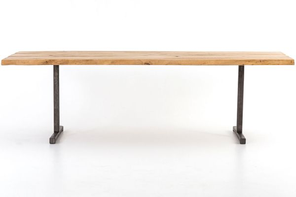 Large image of Four Hands Hughes Collection Natural Reclaimed Wood Booker Dining Table - CIMP-189