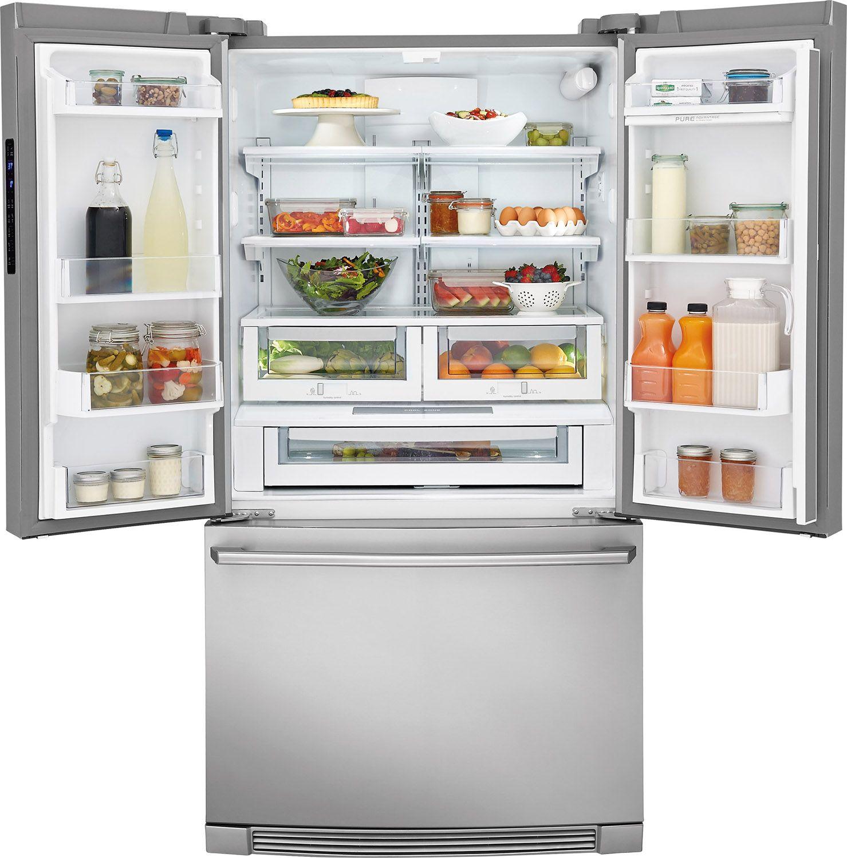 Electrolux stainless french door refrigerator ei23bc32ss larger image 1 2 rubansaba