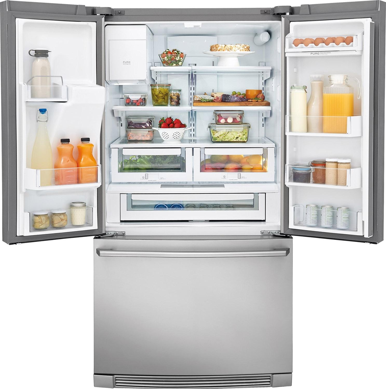 Electrolux stainless french door refrigerator ei23bc35s larger image 1 2 rubansaba