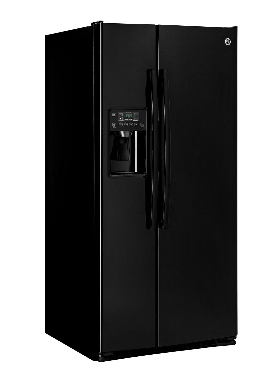 Ge Black 23 2 Cu Ft Side By Side Refrigerator Gss23ggkbb