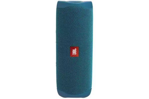 Large image of JBL Flip 5 Eco Edition Ocean Blue Wireless Portable Waterproof Speaker - JBLFLIP5ECOBLUAM