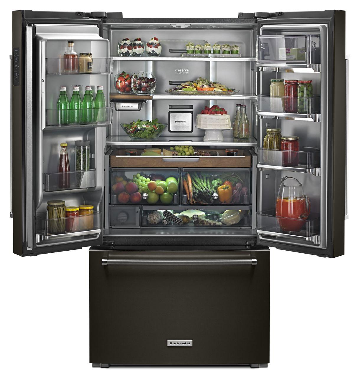 Kitchenaid Refrigerator Black Stainless kitchenaid stainless french door refrigerator krfc704fbs