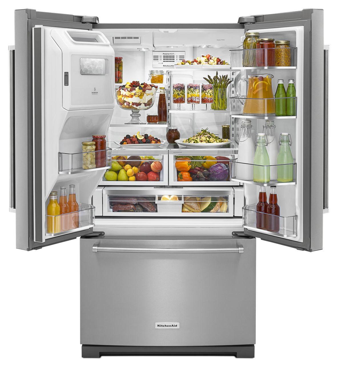 Kitchenaid french door refrigerator krff507ess larger image 1 2 rubansaba