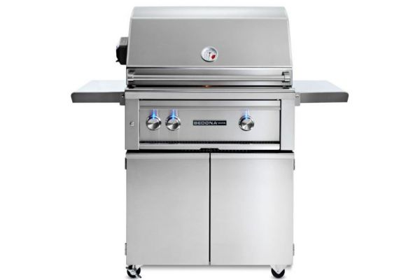 """Large image of Lynx Sedona 30"""" Stainless Steel Liquid Propane Freestanding Grill With Rotisserie - L500FR-LP"""