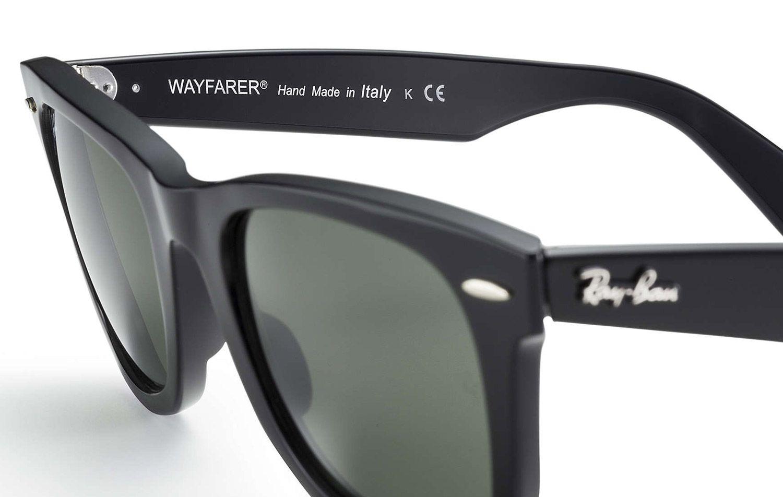 3d6dabd1a Ray-Ban Wayfarer Black Sunglasses - RB2140 901 54-18