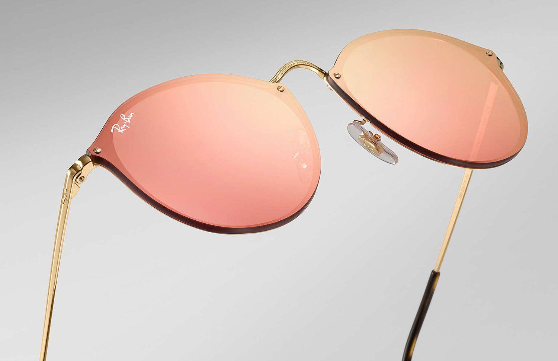 0b035040c3 Ray-Ban Blaze Round Pink Mirror Womens Sunglasses - RB3574N 001 E4 59