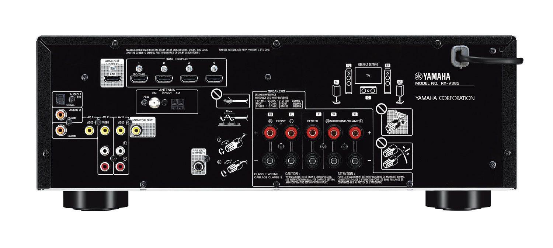 Yamaha Black 5 1 Channel AV Receiver