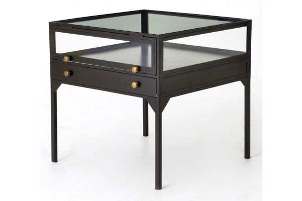 Large image of Four Hands Belmont Collection Shadow Box End Table - VBEL-F039
