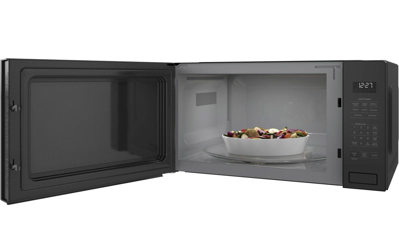 monogram stainless steel black built in microwave oven zeb1227slss