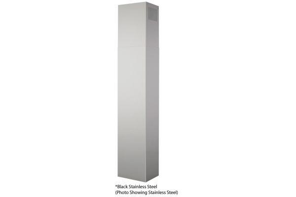 Large image of Broan Black Stainless Steel Ductless Flue Extension For EW43 Series Chimney Range Hood - AEEW43BLS