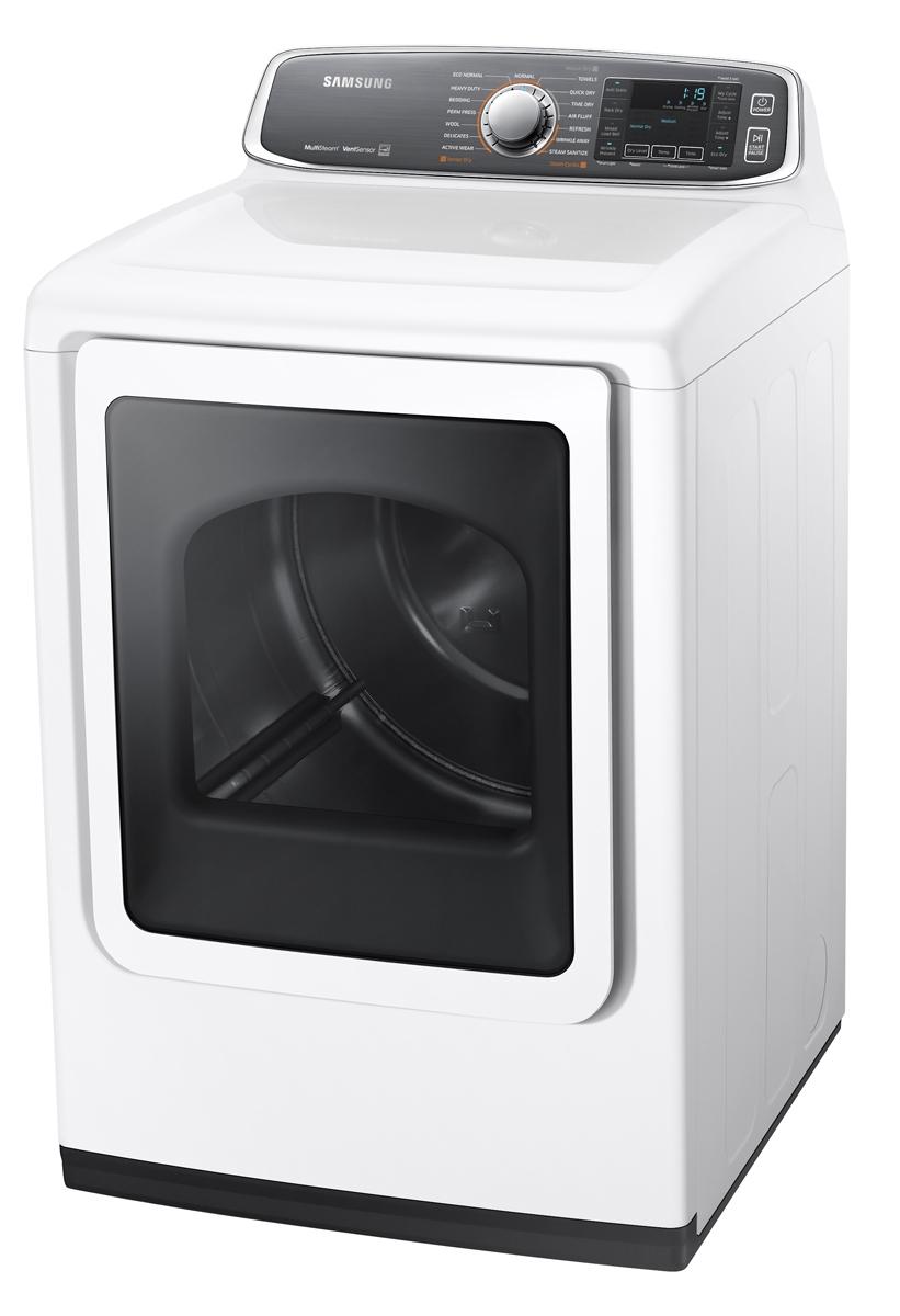 Samsung White Electric Steam Dryer Model Dv52j8700ew A2
