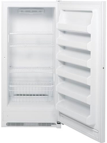 Ge White Frost Free Upright Freezer Fuf20dhrww Abt