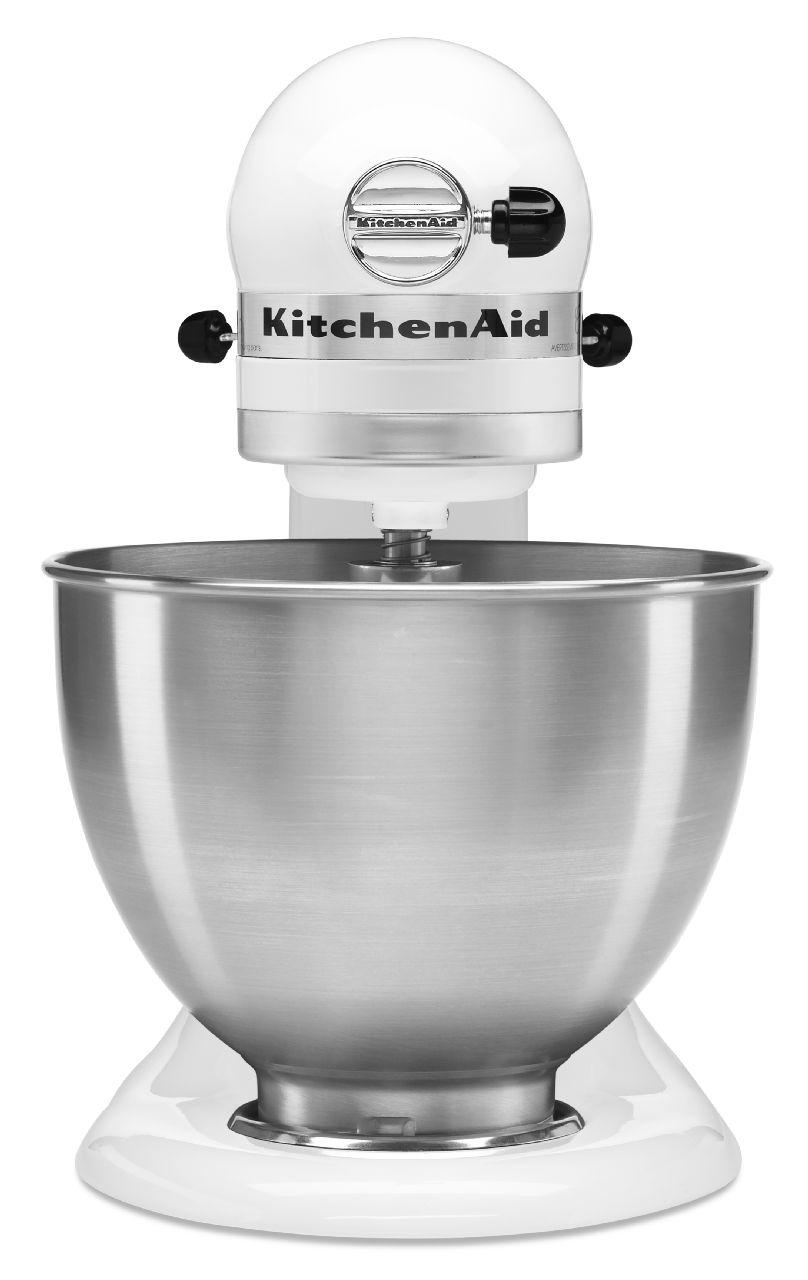 White Kitchenaid kitchenaid classic series white stand mixer - k45sswh