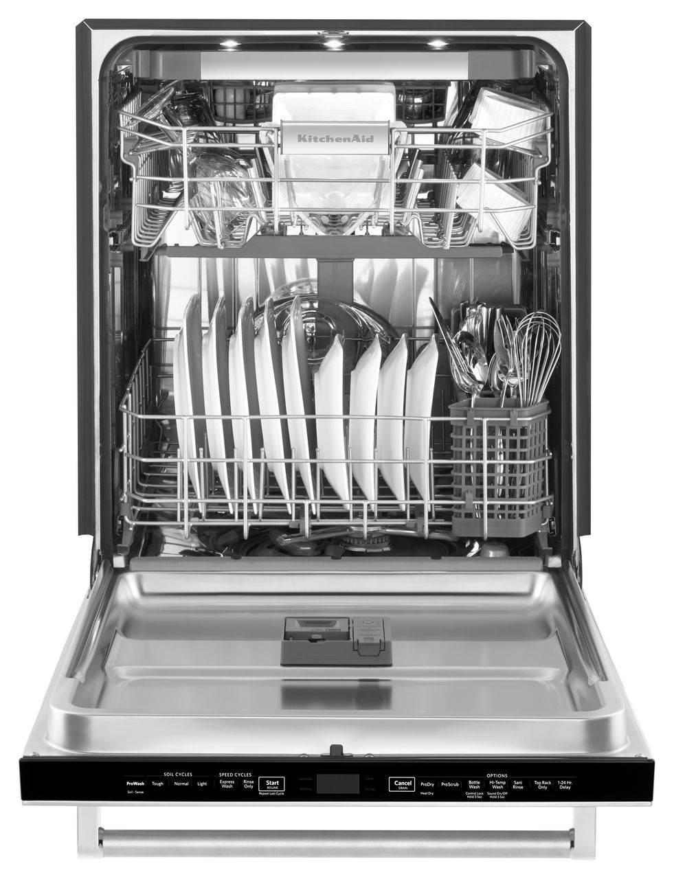 Kitchenaid Dishwasher Stainless Steel kitchenaid built-in stainless dishwasher - kdtm704ess