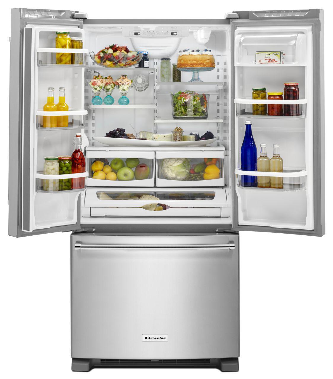 Kitchenaid Refrigerator White kitchenaid white french door refrigerator - krff302ewh