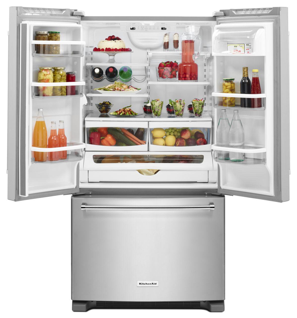 Kitchenaid 25 Cuft French Door Refrigerator Krff305ess