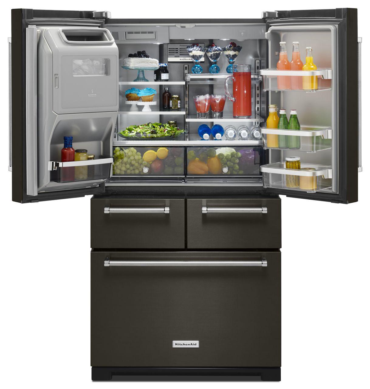 Kitchenaid Refrigerator Black Stainless kitchenaid black stainless refrigerator - krmf706e