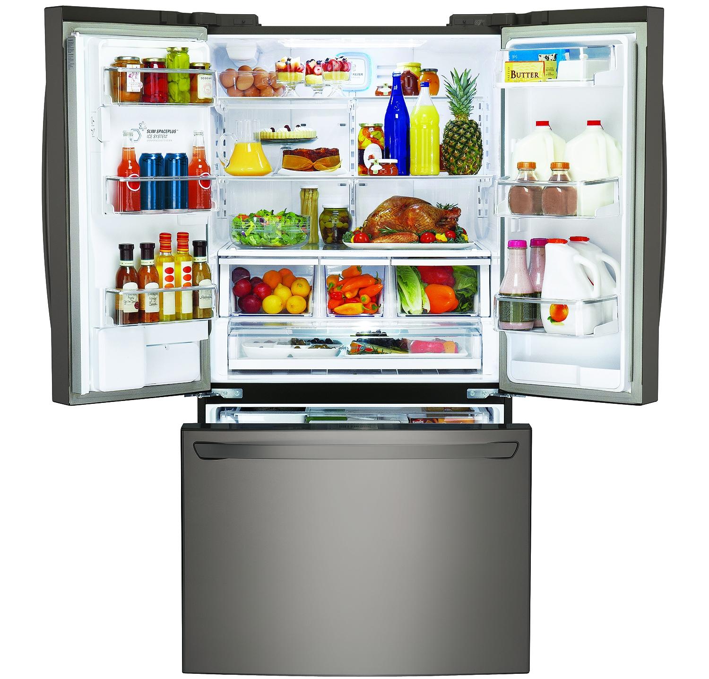 Lg Counter Depth Bottom Freezer Refrigerator Lfxc24726d