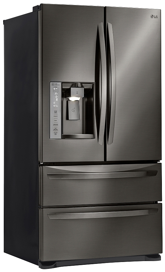 Lg Black Stainless 4 Door Refrigerator Lmxs27626d