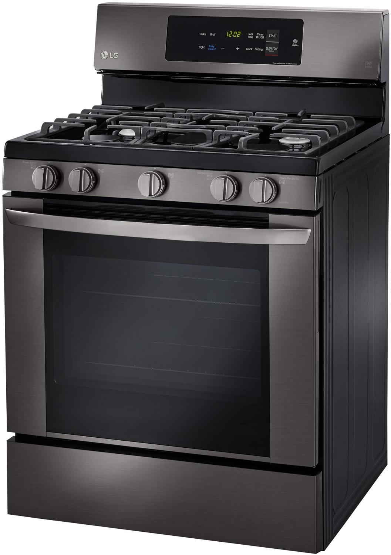 Lg Black Stainless Steel Gas Range Lrg3061bd