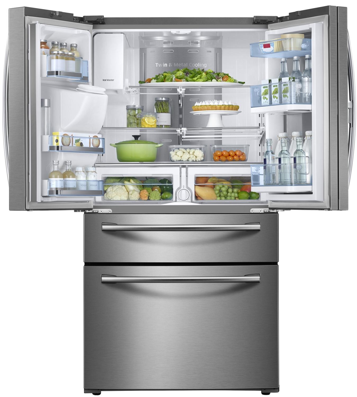 Samsung Steel French Door Refrigerator Rf28jbedbsr Aa