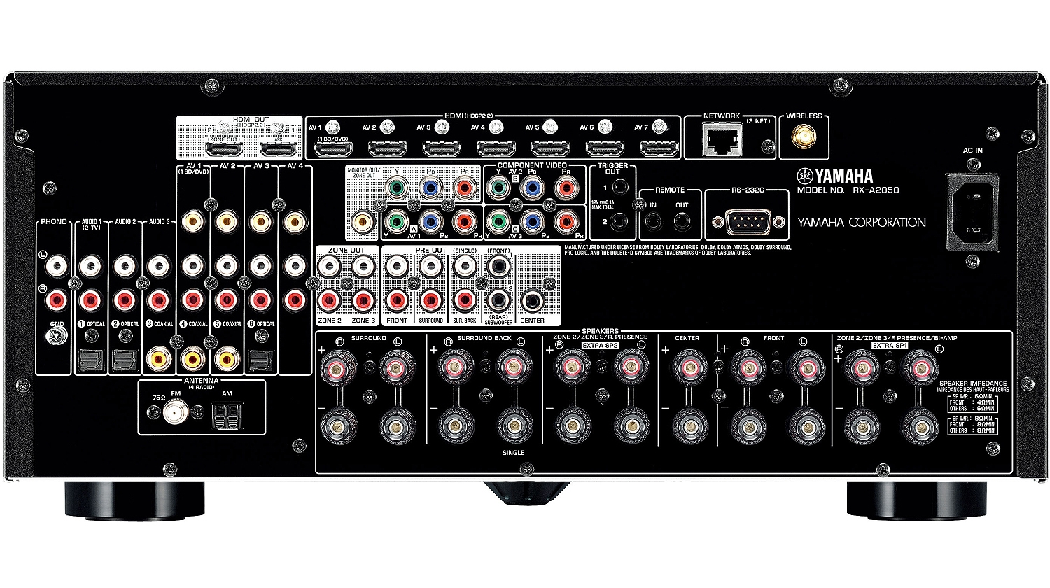 Yamaha Multi Channell Stero For Wholehouse Hookup