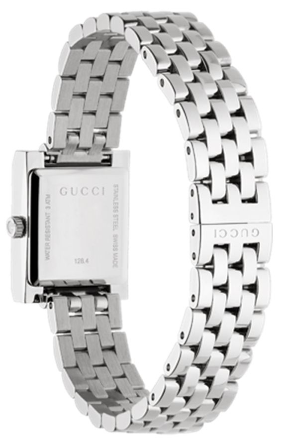 fe65adedcf4 Gucci G-Frame Stainless Steel Square White Dial Ladies Watch - YA128405. Gucci  YA128405 - 1. Gucci YA128405 - 2
