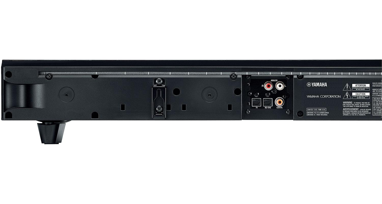 Yamaha black sound bar speaker system yas 103 abt for Yamaha yas 107 review