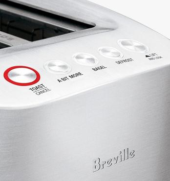 Breville Die Cast 2 Slice Silver Smart Toaster BTA820XL