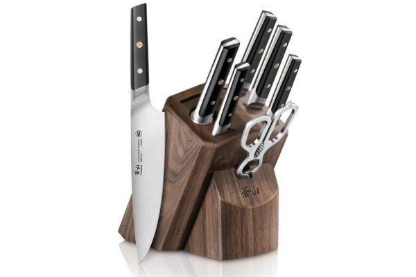 Cangshan TC Series Black 8-Piece Knife Block Set - 1021219