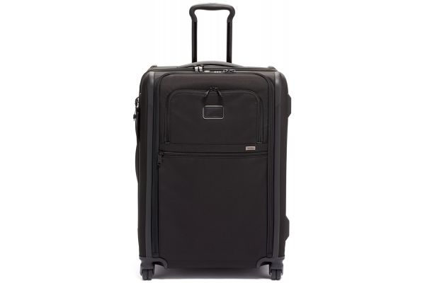 Large image of TUMI Alpha 3 Black Short Trip Expandable 4 Wheeled Packing Case - 1171651041